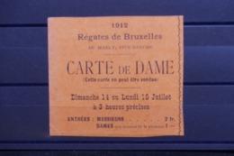 BELGIQUE - Ticket D'entrée Pour Dame Aux Régates De Bruxelles En 1912 - L 47845 - Tickets - Entradas