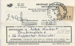 """Recepisse 1968 Moselle Sierck-les-Bains - """"Die Siercker Esel"""" - 5911 Etikette - Lettres & Documents"""
