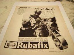 ANCIENNE  PUBLICITE ACTUALITE CALLAS ENFANT MARTYR  RUBAFIX 1959 - Pubblicitari