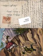 642065,Scherz Humor Frau Rock Kletterer Monokel Edelweiß - Humor