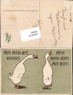 642061,Präge Lithographie Scherz Humor Gänse Gans Spruch Pub Erika - Humor