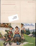 642056,Scherz Humor Kuh Tracht Auf Der Alm Gibt's Ka Sünd - Humor