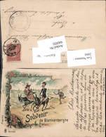 Lithographie 1897 Souvenir De Blankenberghe Judaica Esel Scherz Humor - Judaika