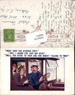 642051,Scherz Humor Chauffeur Auto Hut Karikatur Oldtimer Auto Comics - Humor