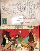 642050,Künstler AK Tom Browner Scherz Humor Explosion Pfeife Rauchen Karikatur - Humor