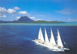 PIE-Z AR-19-2332 :  PAQUEBOT A VOILE WING SONG AU LARGE DE BORA BORA - Frans-Polynesië