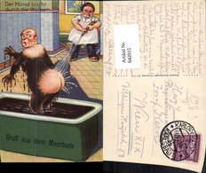 642015,Künstler AK Gruß Aus Dem Moorbade Humor Scherz Mann Badewanne - Humor