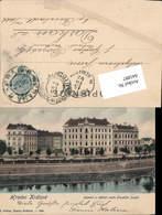 641897,Hradec Kralove Königgrätz Namesti A Nabrezi Cisare Frantiska Josefa 1902 - Cartoline
