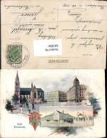 641894,tolle Lithographie Kralove Vinohrady Königliche Weinberge Sign. Körber Böhmen - Cartoline