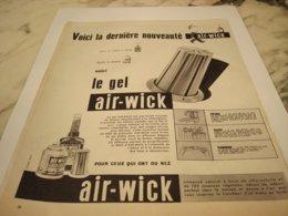 ANCIENNE PUBLICITE LE GEL  AIR WICK 1955 - Pubblicitari