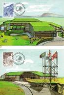 FEROE. N°143-4 De 1987 Sur 2 Cartes Maximums. Architecture Moderne. - Europa-CEPT