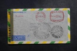 BRÉSIL - Enveloppe Commerciale De Rio De Janeiro Pour Genève En 1944 Avec Contrôles Postaux - L 47855 - Briefe U. Dokumente
