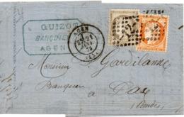 PETITE LETTRE DE D AGEN POUR DAX - 1871-1875 Ceres