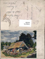 641458,Künstler AK Al. Kalvoda Böhmische Hütte Böhmen Ceska Chalupa Landwirtschaft - Ansichtskarten