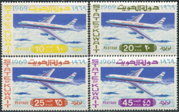 Kuwait 1969. Michel #429/32 MNH/Luxe. Commissioning Of Boeing 707 Jet Aircraft By Kuwait Airways. (Ts15) - Flugzeuge