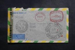 BRÉSIL - Enveloppe Commerciale De Rio De Janeiro Pour Genève En 1944 Avec Contrôles Postaux - L 47857 - Briefe U. Dokumente