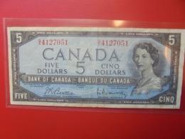CANADA 5$ 1954 CIRCULER (B.9) - Canada