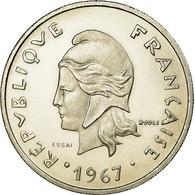 Monnaie, Nouvelle-Calédonie, 20 Francs, 1967, Paris, ESSAI, SPL, Nickel, KM:E12 - Nouvelle-Calédonie