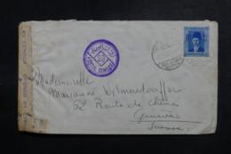 EGYPTE - Enveloppe De Alexandrie Pour Genève En 1940 Avec Contrôle Postal - L 47858 - Lettres & Documents