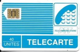 CARTE A PUCE CHIP CARD CARTE TÉLÉPHONE  TÉLÉCARTE 40 UNITÉS SERIGRAPHIEE - France