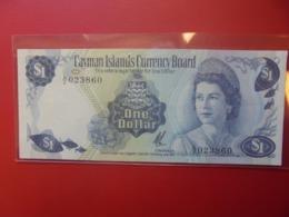 CAYMAN 1$ 1971 PREFIX A/2 PEU CIRCULER (B.9) - Iles Cayman