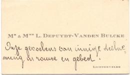 Visitekaartje - Carte Visite - Mr & Mme L. Depuydt - Vanden Bulcke - Lichtervelde - Cartes De Visite
