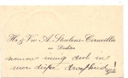 Visitekaartje - Carte Visite - Hr & Vw A. Staelens - Corneille - Gits - Cartes De Visite