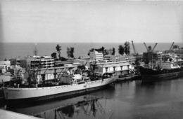 """ANGOLA  - Province Portugaise De L'Afrique Occidentale -  LOBITO  -  Vue Partiel Des Quais - Cargo """"CAPITAINE BROGNION"""" - Angola"""