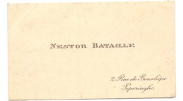 Visitekaartje - Carte Visite - Nestor Bataille - Poperinge - Cartes De Visite