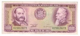 Peru 1000 Soles De Oro, 1972 , VF/XF. - Perú