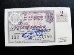 Lottery Ticket Ussr Russia - Loterijbiljetten
