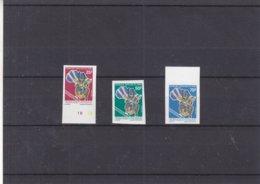 Fonds Africain - Argent - République Du Congo - Yvert 813 / 5 ** - NON Dentelé - Faible Tirage - Mint/hinged
