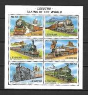 Lesotho 1996 Trains Of The World #1 Sheetlet MNH (DMS02) - Lesotho (1966-...)