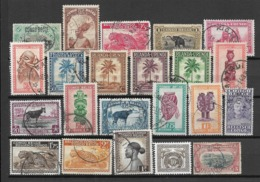 Belgian Congo, Lot Of Different Stamps - Congo Belga