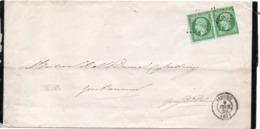 LETTRE DE FAIRE PART D ISSOIRE AVEC UNE PAIRE DU N°12 UN EXEMPLAIRE SUP - 1853-1860 Napoléon III