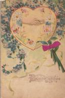 BONNE ANNEE  1905 - Jolie CPA Gaufrée ( Fer à Cheval - Trèfle ) - Nouvel An
