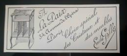 1897 GALLE EMILE EXPOSITION COLLECTION CRISTAUX MEUBLES DU MAITRE VERRIER MAGASIN LA PAIX PUBLICITE ANCIENNE - Publicités
