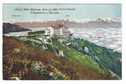 1274 - GRAND HOTEL MOTTARONE KULM GRAND RISTORANTE GUGLIELMINA E FIGLI 1923 VERBANIA BIELLA - Altre Città