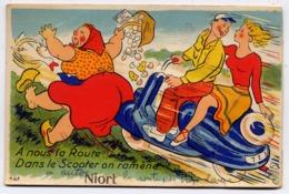 * NIORT , A Nous La Route ! Dans Le Scooter On Ramène ; CARTE A SYSTEME - Niort