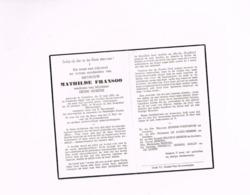 Mathilde Fransoo,weduwe Van Henri Sierens,Oedelem,10.5.1881.Brugge,18.10.1962. - Obituary Notices