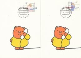 D38585 - 2 CARTES MAXIMUM CARDS FD 1989 NETHERLANDS - COMMUNICATION EUROPA CEPT CP ORIGINAL - Europa-CEPT