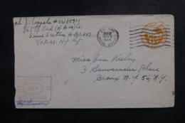ETATS UNIS - Entier Postal  De L' US Army Par Avion Pour New York En 1944 Avec Cachet De Censure - L 47872 - Entiers Postaux