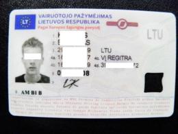 Driving Licence Driver's Card Lithuania Eu 2017 Permis De Conduire - Documents Historiques
