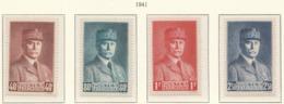 PIA - FRA - 1940-41 : Effigie Del Maresciallo Petain - (Yv 470-73) - Nuovi