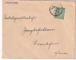 GRANDE-BRETAGNE LETTRE POUR FRANKFURT - 1902-1951 (Rois)