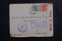 AFRIQUE DU SUD - Enveloppe ( Vendue Par L'Agence Intern. Des PG)  Pour La Suisse En 1918 Avec Contrôle Postal - L 47882 - Afrique Du Sud (...-1961)