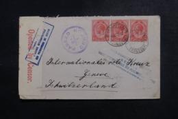 AFRIQUE DU SUD - Enveloppe ( Vendue Par L'Agence Intern. Des PG)  Pour La Suisse En 1917 Avec Contrôle Postal - L 47884 - Afrique Du Sud (...-1961)