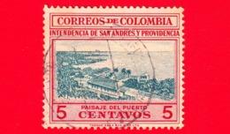 COLOMBIA - Usato -  1956 - Veduta Del Porto - San Andres Y Providencia - 5 - Colombia