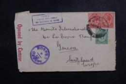 AFRIQUE DU SUD - Enveloppe ( Vendue Par L'Agence Intern. Des PG)  Pour La Suisse En 1918 Avec Contrôle Postal - L 47886 - Afrique Du Sud (...-1961)