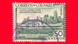 COLOMBIA - Usato - 1955 - Flotta Mercantile Gran-colombian - 50 - Colombia